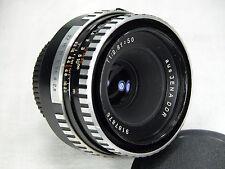 EXC Carl Zeiss Jena TESSAR 50mm f 2.8 M42 Zebra screw mount bundle both caps