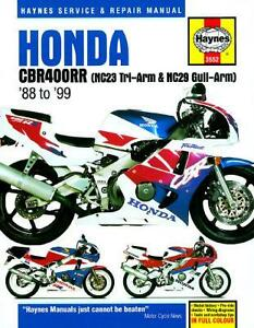 haynes workshop service repair manual honda cbr400rr nc23 nc29 88 99 rh ebay com Honda 400 Engine honda cbr400 nc23 wiring diagram