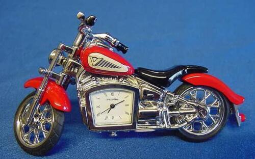 WILLIAM WIDDOP RED INDIAN STYLE MOTORBIKE MOTORCYCLE CLOCK 9497R