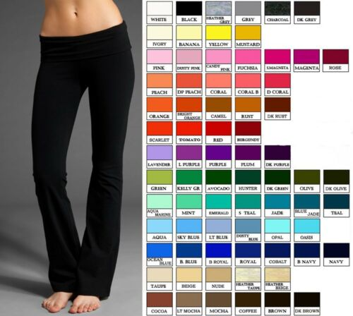 Gym Foldover Pants Yoga Lounge Athletic Sweat Sports Spandex Soft Cotton Women gxU0U