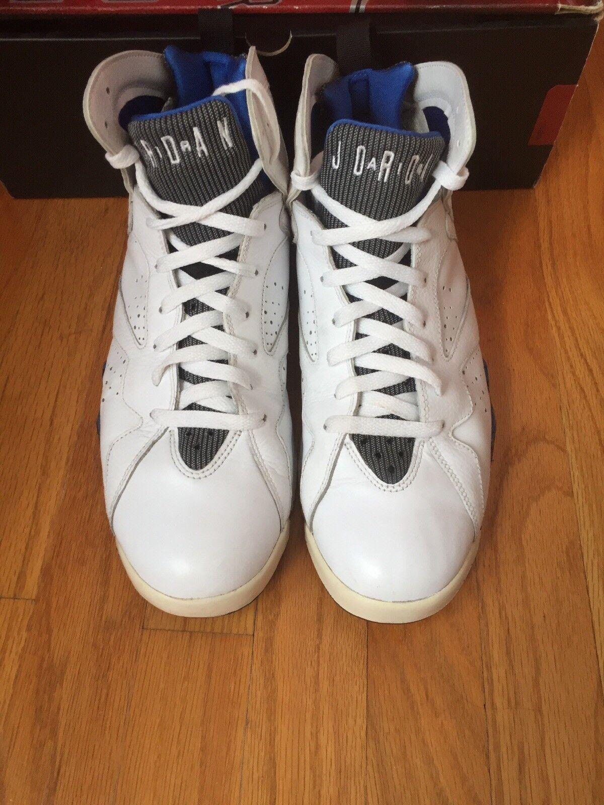 Air Jordan 7 DMP Orlando Magic White Black Varsity Royal Size 10 304775 161