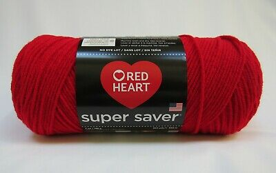 Red Heart Super Saver Yarn 100/% Acrylic 7 oz In Hot Red