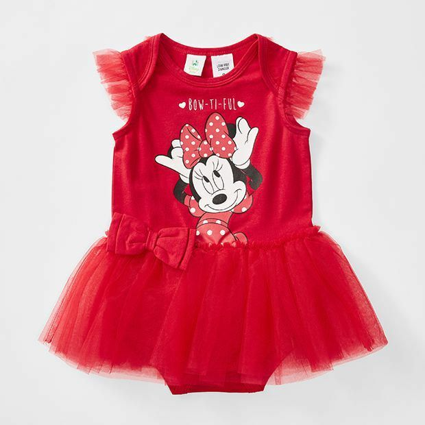 Disney Baby Minnie Mouse Tutu Dress Bodysuit Mesh Skirt Size 000