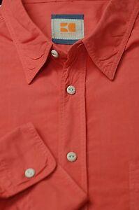 Hugo-Boss-Men-039-s-Soft-Red-Luxury-Cotton-Casual-Shirt-XL-XLarge