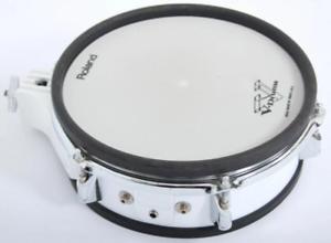 Roland-PD-100-25-4cm-Electronique-Snare-Tambour-ou-Tom-Pad-Blanc-pour-Electrique