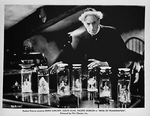 THE BRIDE OF FRANKENSTEIN BLACK AND WHITE 8x10 classic PHOTO 2AA !!!