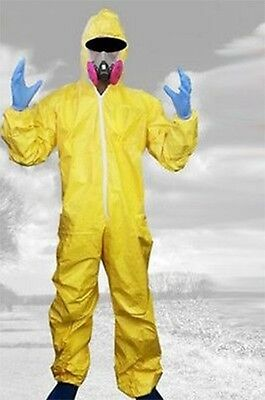 Breaking Bad Halloween Cosplay Costume Walter White Outfit Hazmat Suit Gas Mask