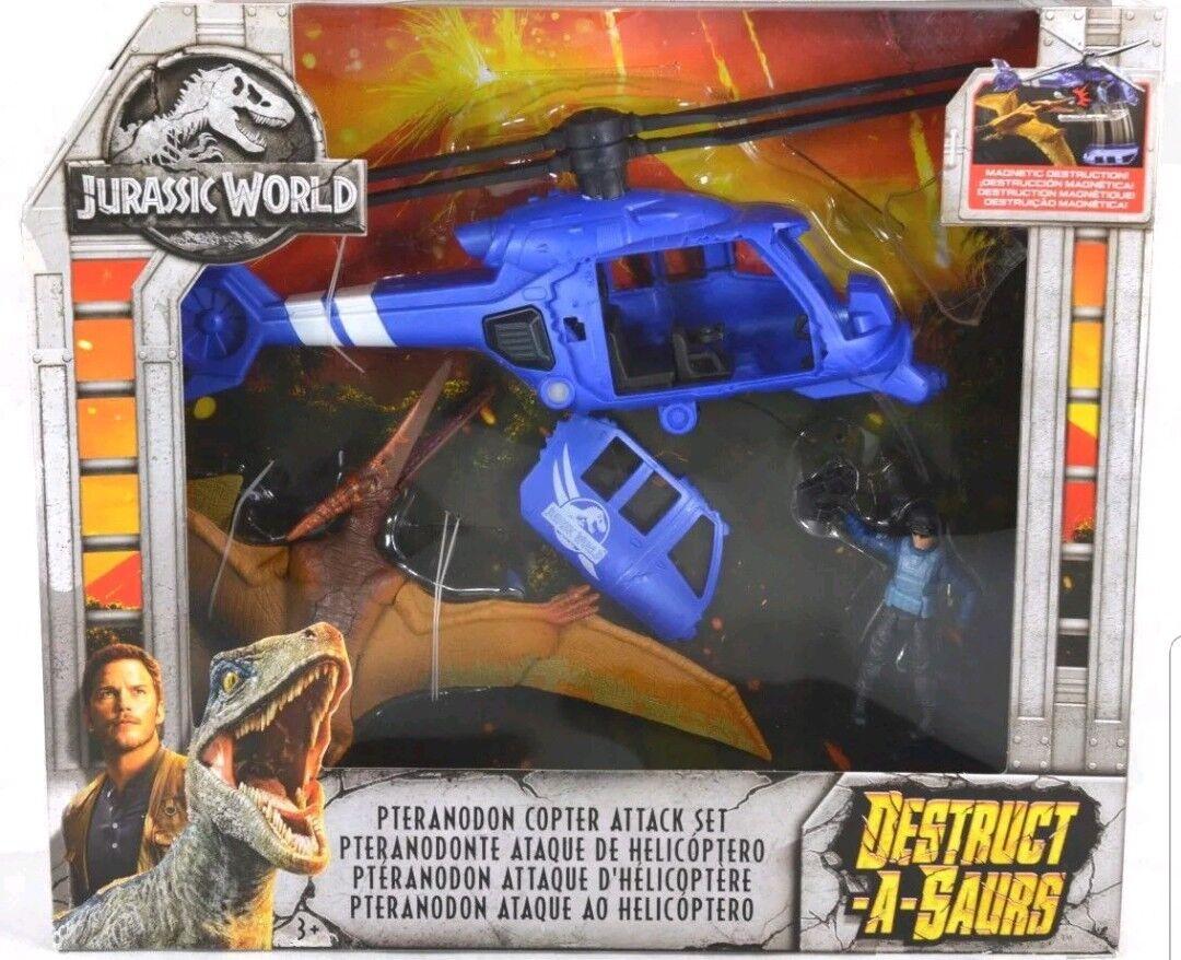 Jurassic World caído Reino destrucción-a-Saurs dinosaurios Copter ataque