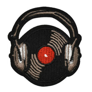Headphones-Iron-On-Patch-Embroidery-Badge-Applique-DIY-Bag-Coat-Sewing-Handcraft