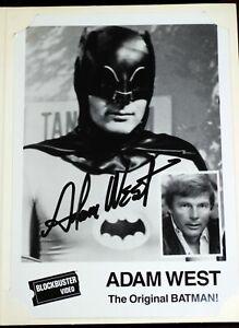 Adam-West-BATMAN-5-034-x-7-034-Photo-Blockbuster-Video-August-20-1989-Livonia-Michigan