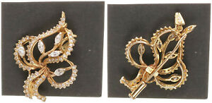 Brooch-amp-Pendant-Gold-750-with-Diamonds-5-5g-Approx-4cm-Large