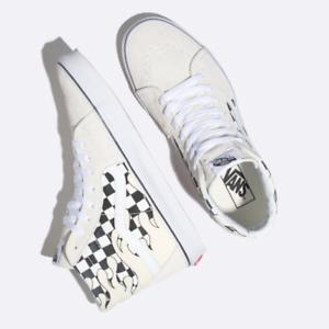 Vans Checkerboard llama Sk8-Hi Zapatos-Clásico blancoo Auténtico blancoo-tamaños 8-12