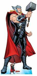 Thor-Mjolnir-039-s-Might-Hammer-Pose-Official-Marvel-Cardboard-Cutout-with-Free-Mini