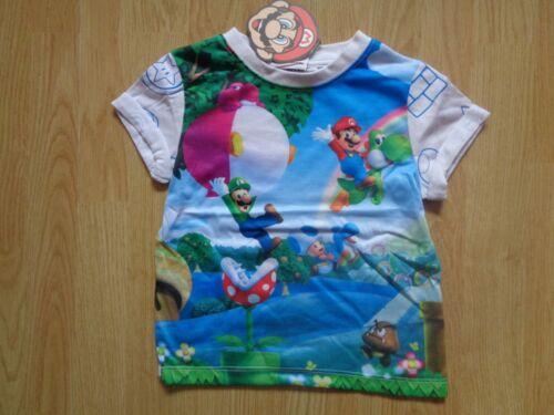 Ragazzi Super Mario Bros Personaggio T-shirt Età 2-8 ANNI Nuovo Venditore Regno Unito