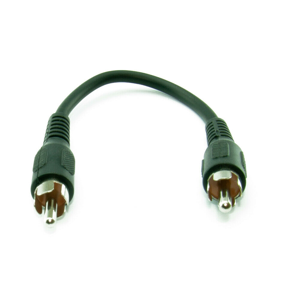 15cm Really Very Short Single RCA/ Phono Male to Male M-M Audio/Video AV Cable