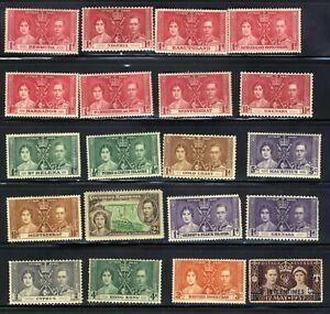 1937-British-12th-May-Coronation-King-George-VI-20-Stamp-Set-MNH-OG
