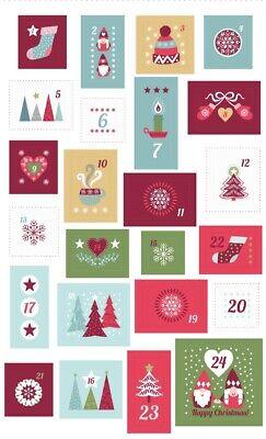Scandi Advent Calender Fabric Panel Hygge Xmas Christmas Panel Lewis /& Irene R
