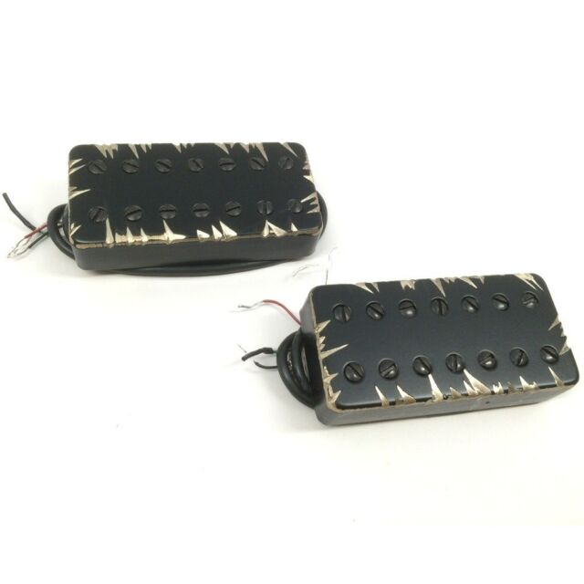 Bare Knuckle Black Hawk Humbucker 6-String Gold Radiator Covered Set