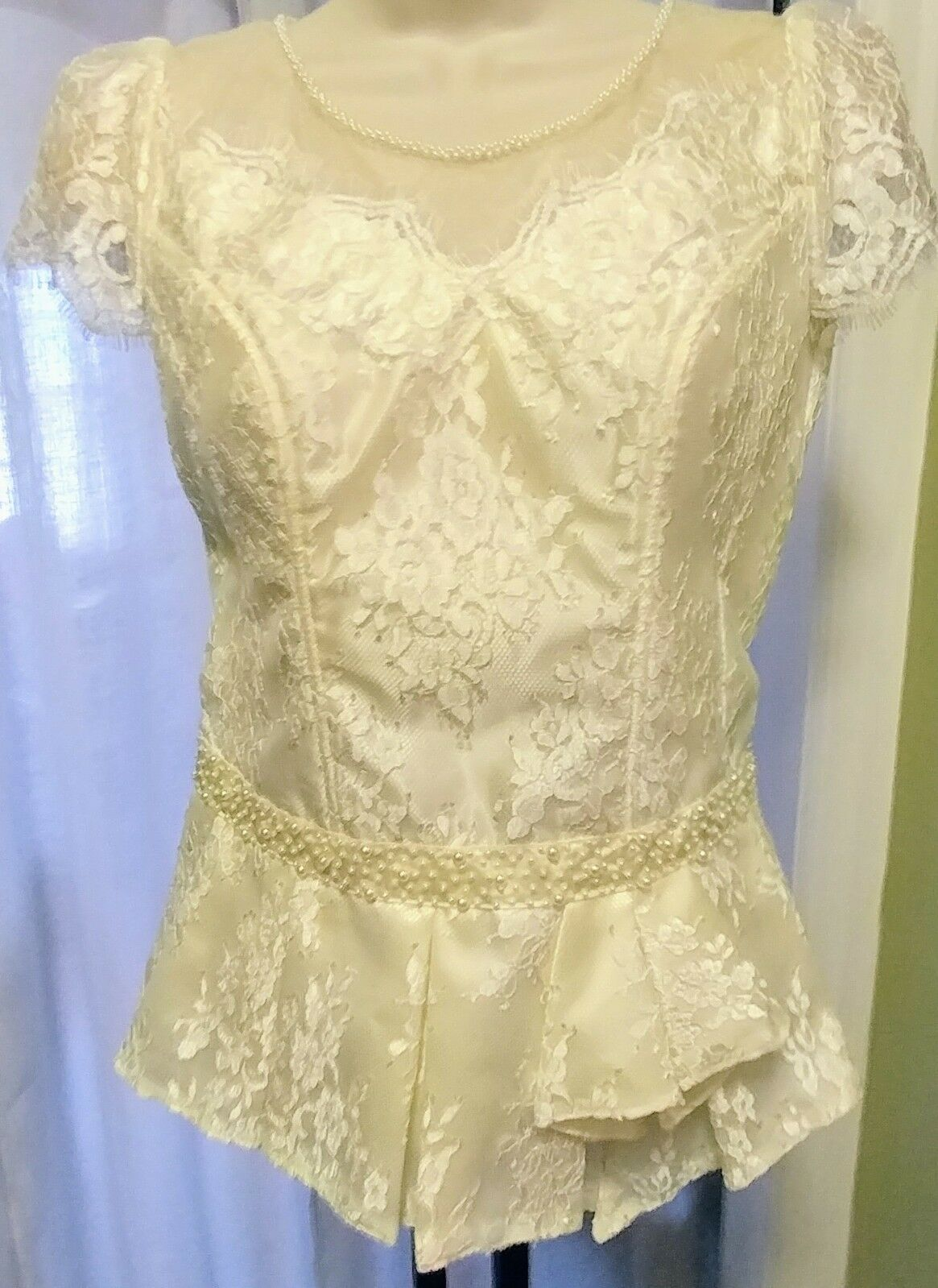 Cambodian Khmer Lace Blouse Cream