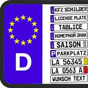 2 x EU KFZ-Kennzeichen, Autoschilder, Nummernschilder Alu  520 x 110 mm