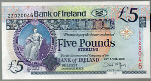 ZZ-REPLACEMENT-2008-Bank-of-Ireland-Belfast-5-five-pound-banknotes-real-notes
