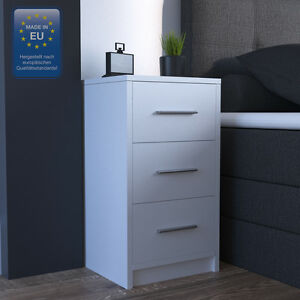 nachtkommode f r boxspringbett nachtschrank nachttisch kommode schrank wei ebay. Black Bedroom Furniture Sets. Home Design Ideas
