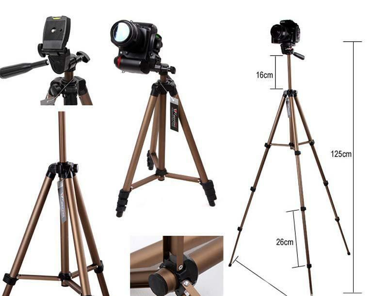 MEETBM ZIMO,WT3130 Protable Camera Tripod Stand with Rocker Arm for DSLR Camera Camcorder Color : Brown Brown