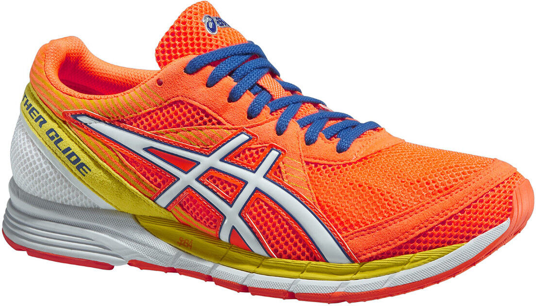Asics Gel Feather Glide 2 Mens Running shoes Lighweight Racing Trainers - orange
