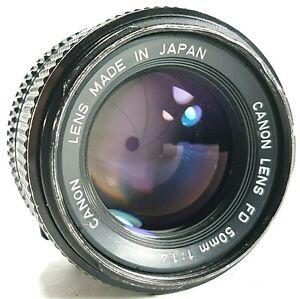Canon-FD-50mm-f1-4-Prime-Objektiv-mit-vorderen-und-hinteren-Caps-UK-Schnelle-Post