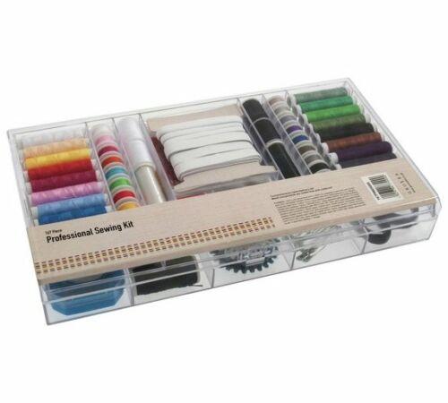 KIT da cucito PROFESSIONALE 167 pezzi facile da usare contenitore NEW /_ UK /_ Seller