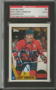 Larry-Robinson-1987-Topps-Autograph-192-SGC-Canadiens