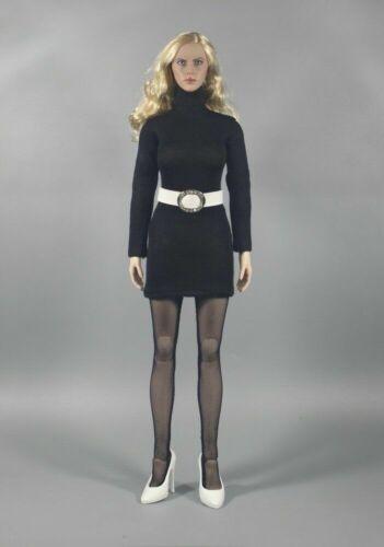 1//6 Black Turtleneck Sweater /& Stockings Clothes Accesory ZYTOYS  F 12/'/' Figure