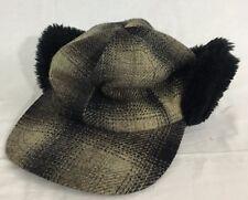 Elmer Fudd Hunting Hat Black & Gray Plaid Country Gentleman Made in USA
