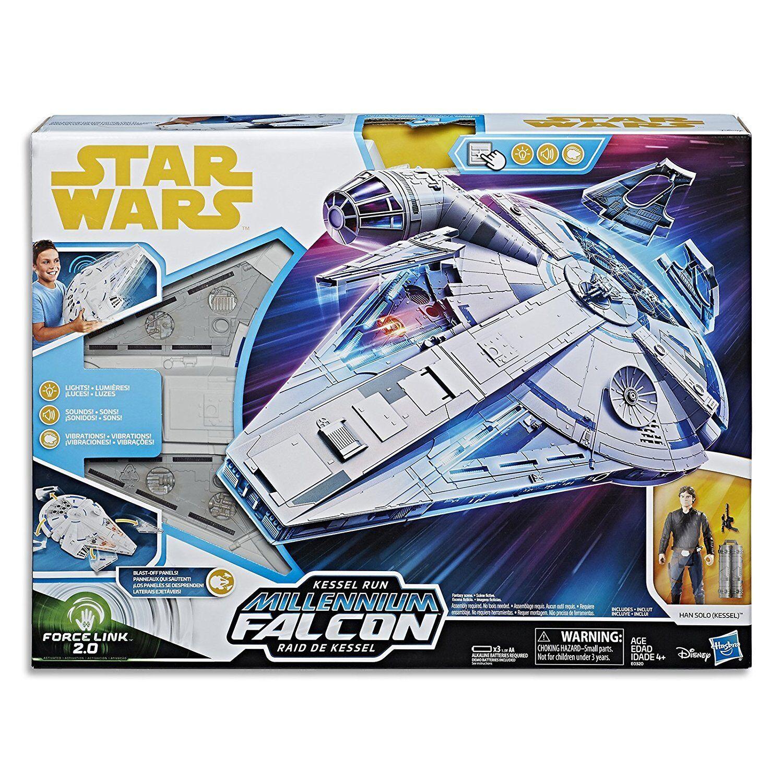 Star wars force link 2.0 kessel laufen millennium - falken mit han solo abbildung  neu