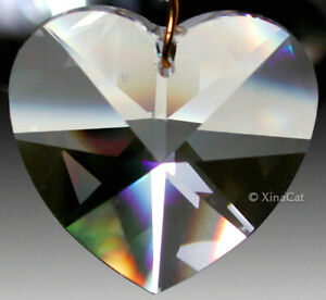 Heart-8781-20mm-Strass-Swarovski-Crystal-Clear-Prism-Pendant-LOGO-7-8-inch