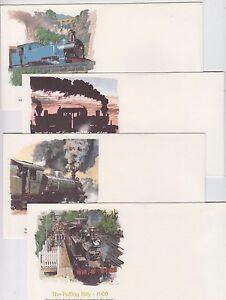 Stamps Australia 1979 steam trains set 4 USA Fleetwood FDC's, unused & uncommon