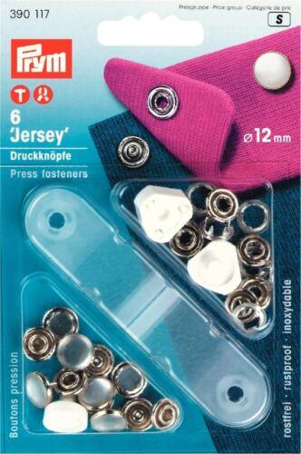 10mm Brass Non Sew Jersey Press Fasteners Prym Accessories 9pk