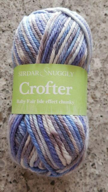 Sirdar Snuggly CROFTER Baby Fair Isle Effect CHUNKY Knitting Wool Yarn 50g