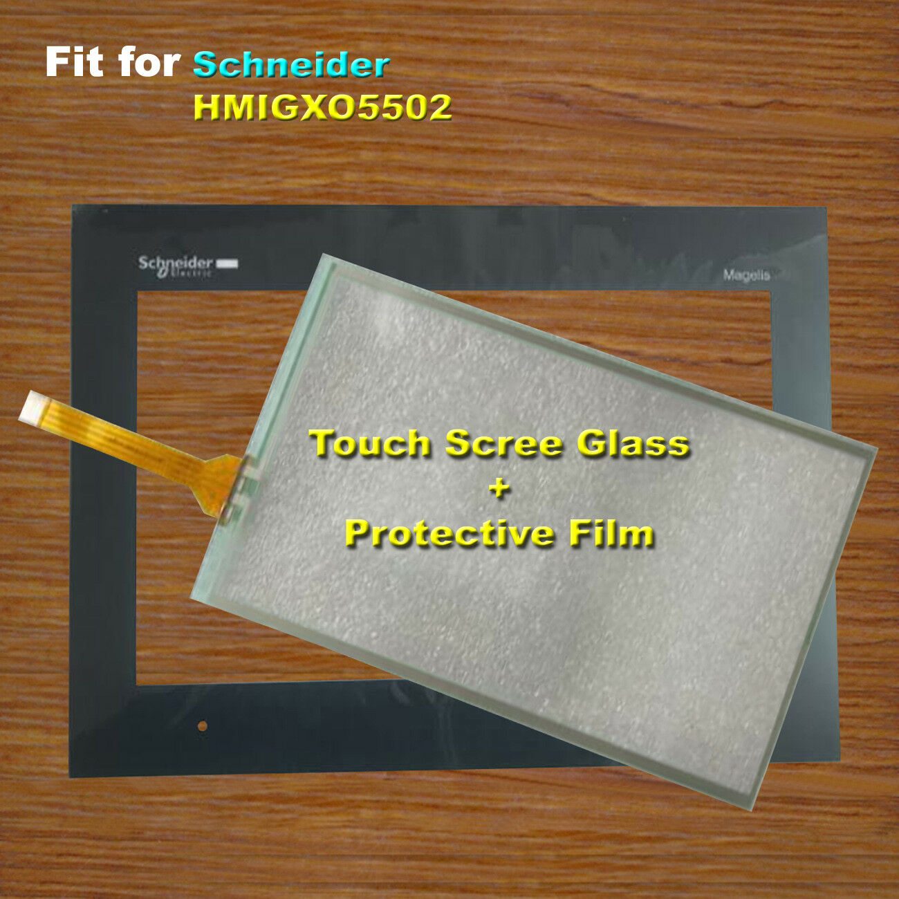 For Schneider HMIGXO5502 Touch Screen Glass + Predective Film 1 Year Warranty
