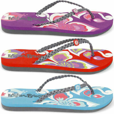 GIRLS URBAN BEACH FLIP FLOPS SANDALS SIZE UK 10-2 KIDS SWIM SEA PETALS FW562
