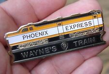 old vintage Phoenix Express WAYNE's TRAIN lapel hat pin badge Gretzky John Az