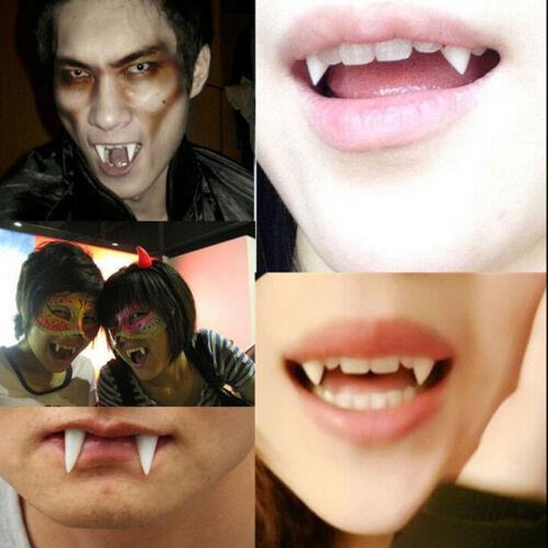 1XDentures Zombie Vampire Teeth Ghost Devil Fangs Halloween Prop Costume Part RS