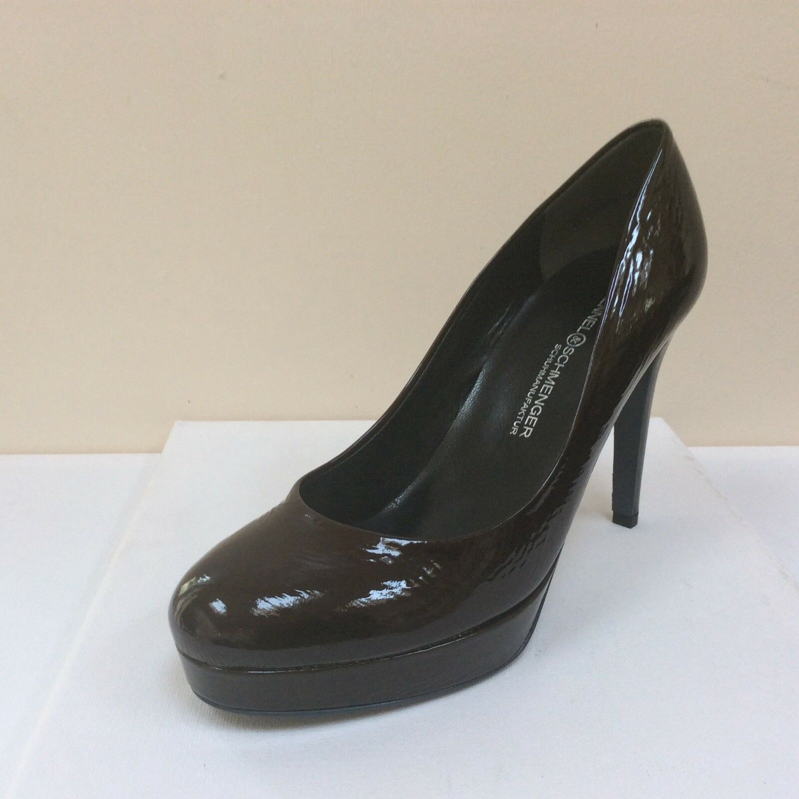 K&S Sheyla dark brown patent platform courts, UK 3.5/EU 36.5,   BNWB