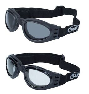 2 Bing Motorcycle Skydiving Moped Goggles Day Night Googles Foldable Padded ATV
