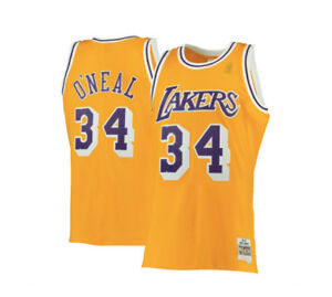 597b1d65b Shaquille O  Neal Los Angeles Lakers Mitchell   Ness  34 Swingman ...