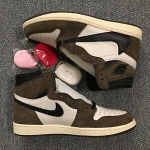 sports shoes ec971 2f5c4 Details about Travis Scott Jordan 1 Retro High OG TS SP 10.5 CD4487 100  Cactus Jack