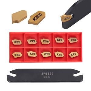 SPB26-3-26mm-Part-Off-Blade-Grooving-Cut-Off-Tool-10pcs-GTN-3-SP300-Insert