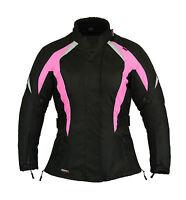 Shock Pink Ladies Motorbike Motorcycle Jacket Waterproof All sizes