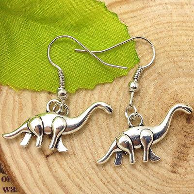Antique silver lovely Dinosaur Earrings Handmade Jewelry fashion m03