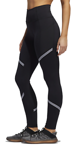 Adidas Women's Believe This High Rise 3-Stripes Tights, Black